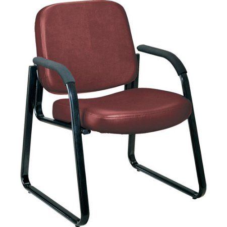 OFM Vinyl Guest Chair, Red
