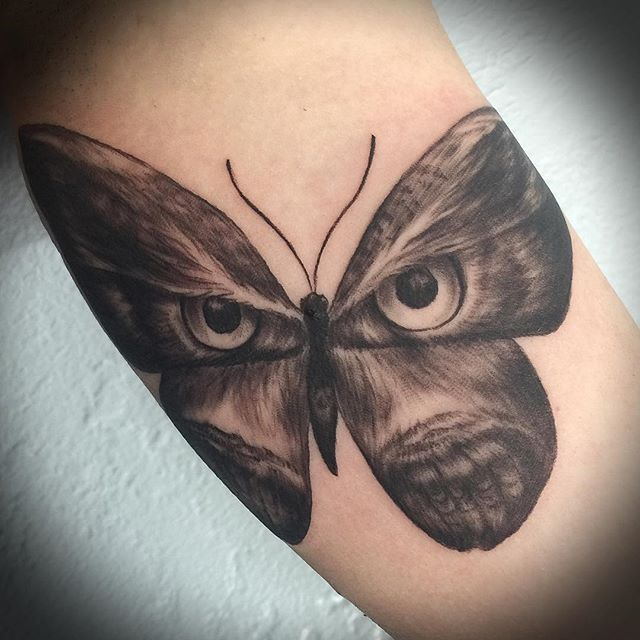 Beautiful Owl / Butterfly / Moth Tattoo ...