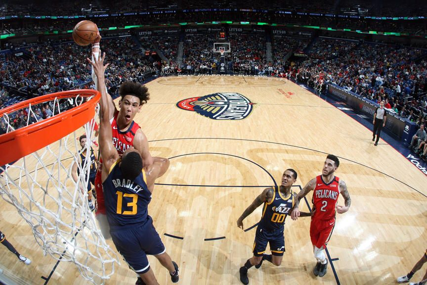 Pelicans vs Jazz Game Action Photos 201920 Game 37