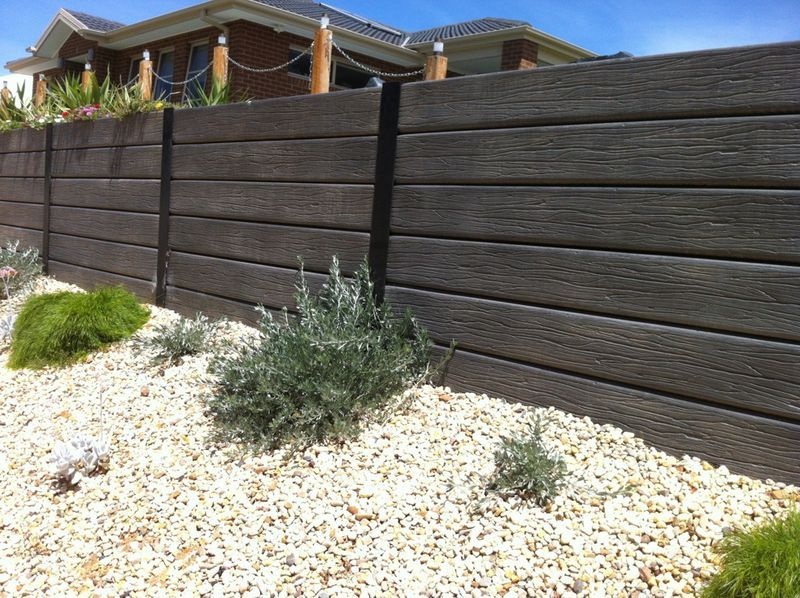 Pin By Anna Valencia Hall On Outdoor Entertainment Upgrades Concrete Sleepers Concrete Sleeper Retaining Walls Concrete Retaining Walls