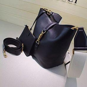 38c2e7426005 Gucci Black Jackie Soft Leather Bucket Bag 380579 | Papyros.io bags ...