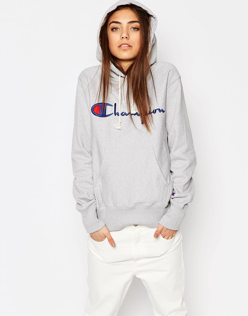 Champion - Sweat à capuche classique oversize en maille envers ...