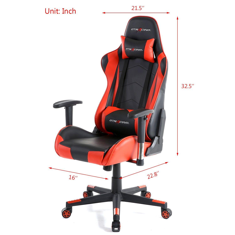 Strange Gtracing Gaming Office Chair Game Racing Ergonomic Backrest Theyellowbook Wood Chair Design Ideas Theyellowbookinfo