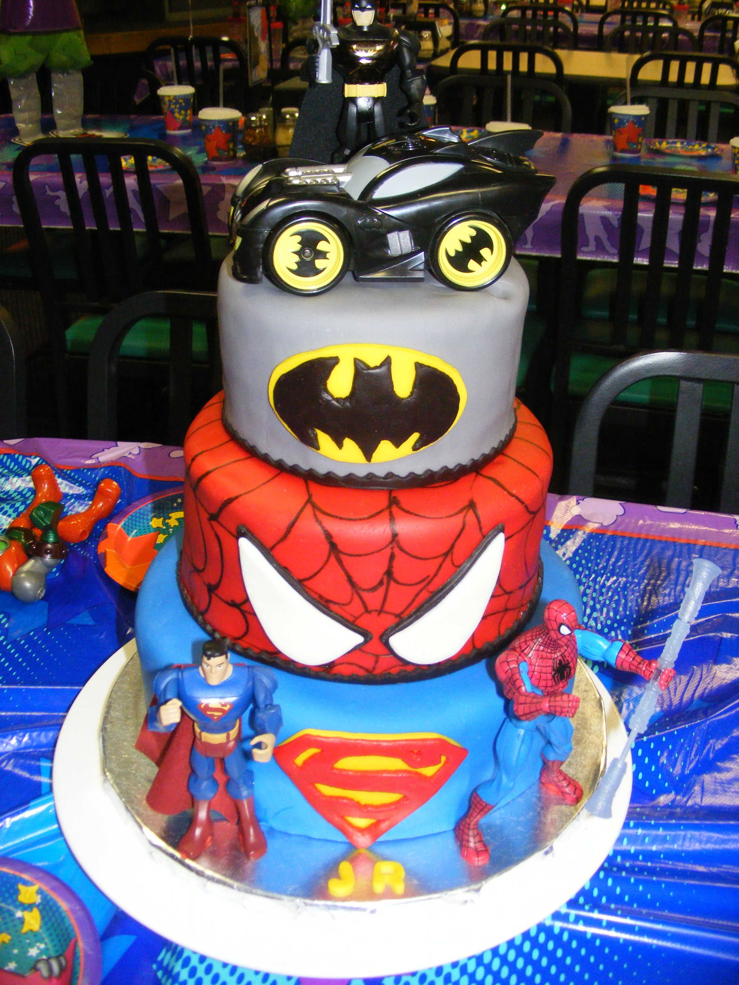 JRs Super Hero birthday cake Birthday cakes for the boys