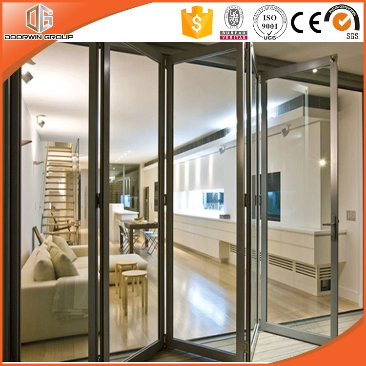 American Style Folding And Gliding Door With High Cost Performance Glass Door Sliding Glass Door Bifold Patio Doors