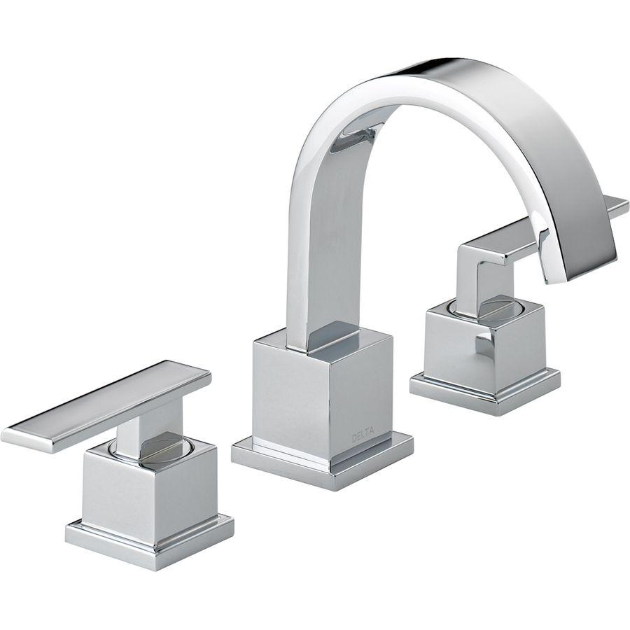 Shop Delta Vero Chrome 2-Handle Widespread WaterSense Bathroom Sink ...