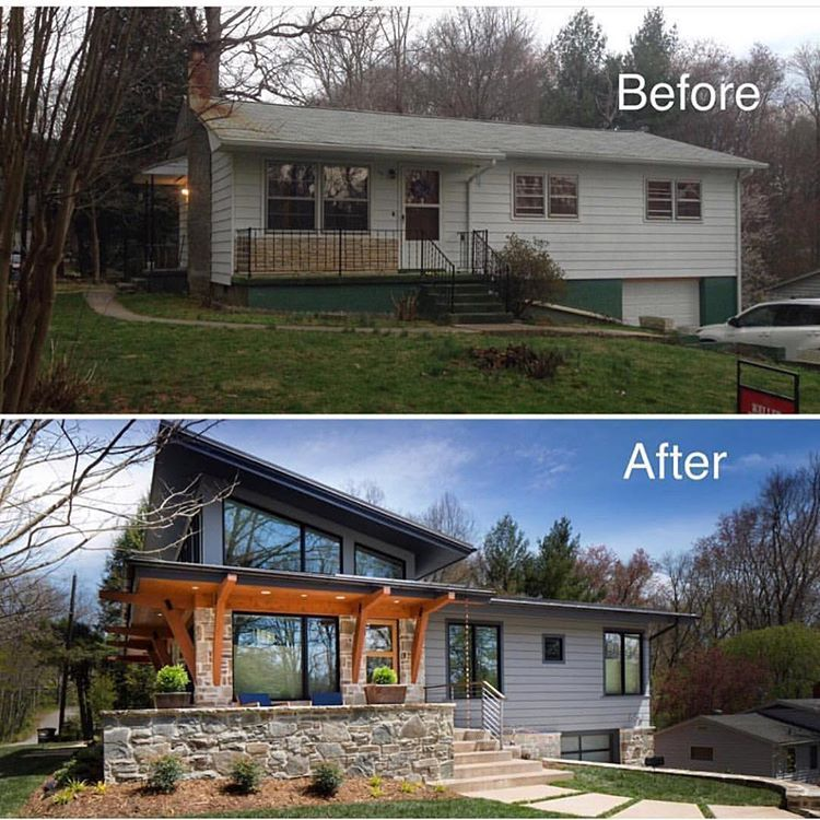 A Little Before After From Livingstoneconst Swipe To See Also Some Weekend Sales Picks Up On Beckiowens Com H Me Sweet H Me In 2019 Home Exterior Makeover House Makeovers Exterior Remodel