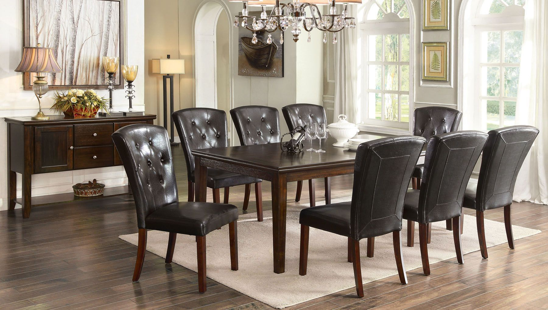 Woodmoor Dining Table Cm3333T  Products  Pinterest  Products Fascinating 9 Pcs Dining Room Set Inspiration Design