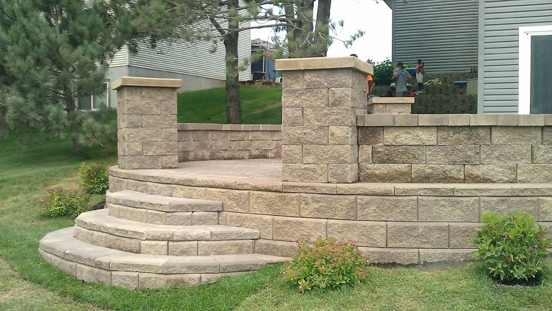 Stamped Concrete 37 Lg Jpg 800 451 Concrete Stairs Concrete Retaining Walls Concrete Decor