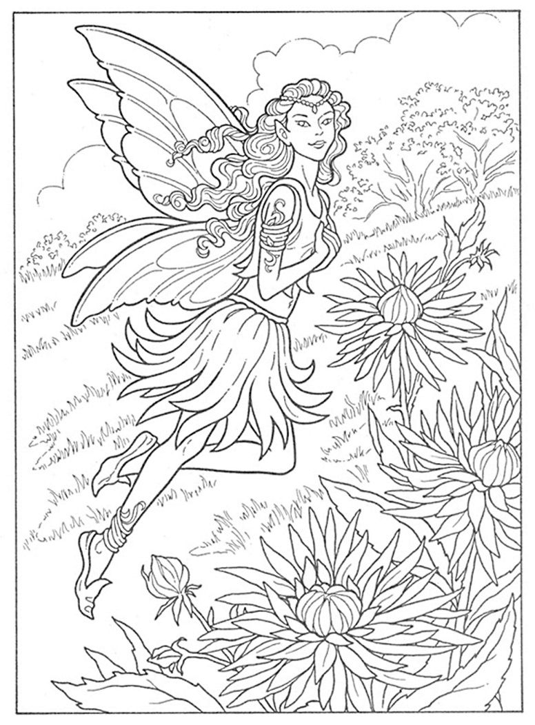 Fairies To Paint Or Color Coloring Book, Dover Publications ...