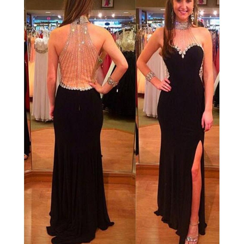 New Arrival Beaded Sparkly Black Hater Charming For Evening Part