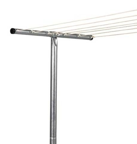 Steel T Assembly 4 Piece Outdoor Steel Posts Laundry Line Household Essentials Clothes Line Home Bar Accessories