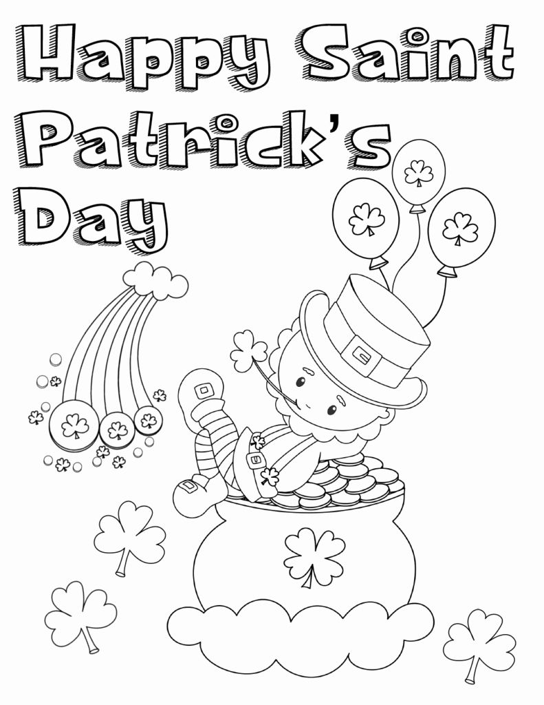St Patricks Day Coloring Page Lovely Free Printable St ...