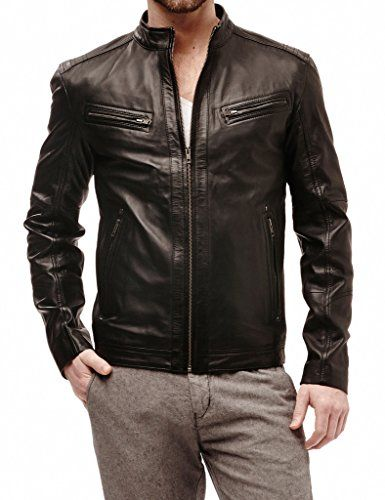 Mega Shop | SkinsDesign Men's Moto Leather Jacket Mj 034