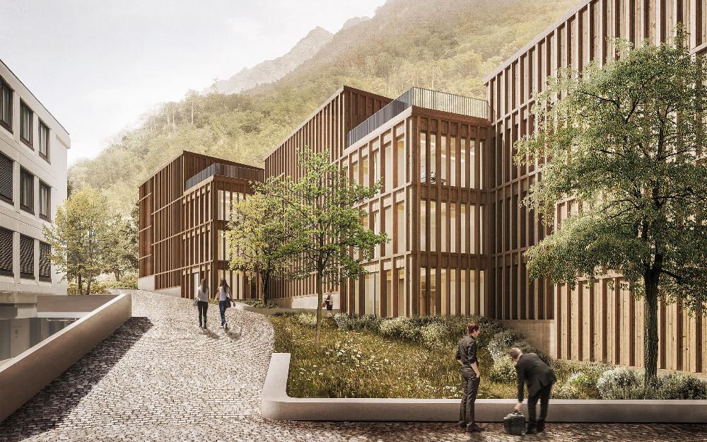 Ergebnis Neubauten Fur Die Lgt Bank In Vaduz Li Competitionline In 2020 House Styles Mansions Outdoor