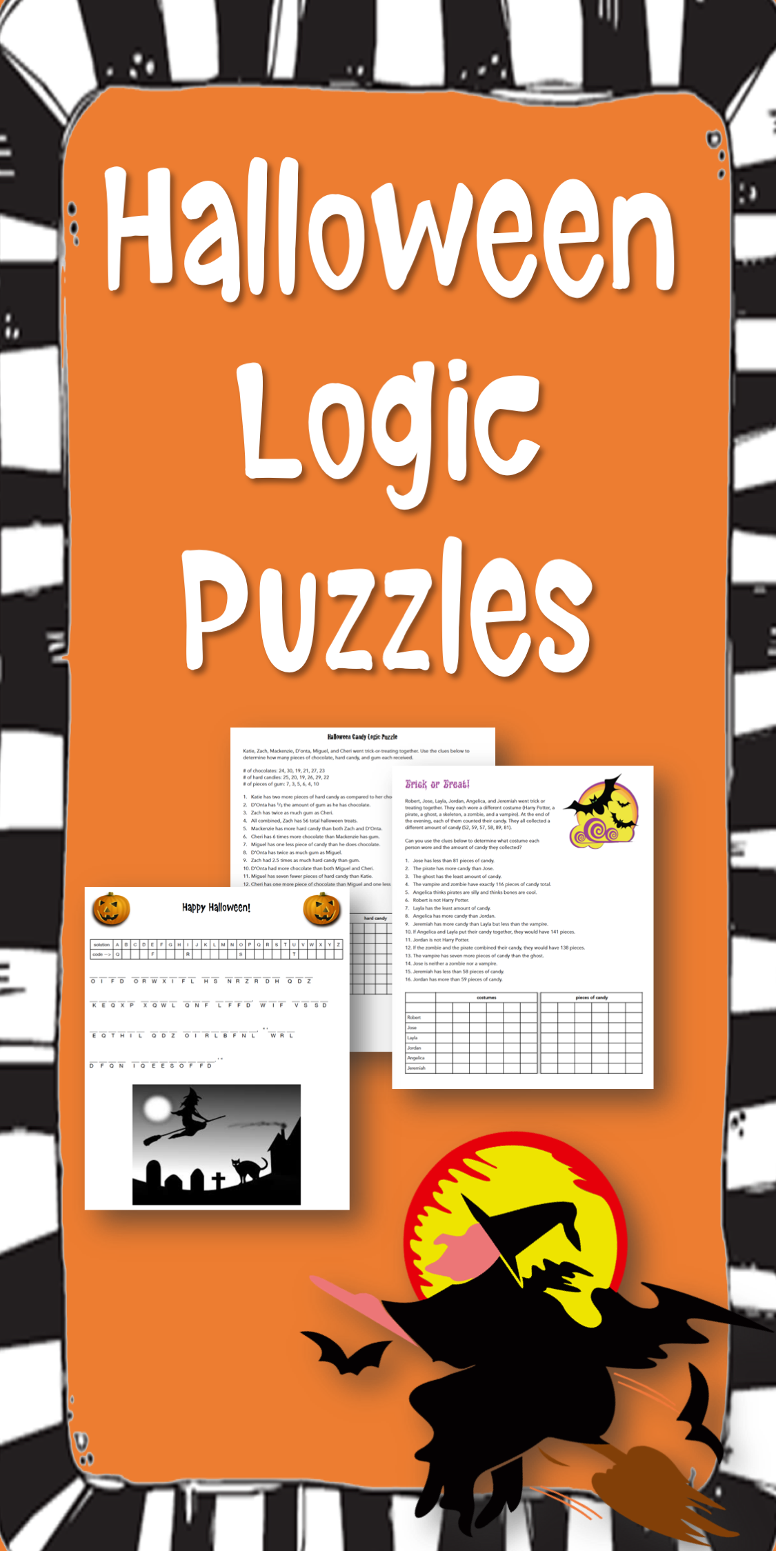 Halloween Logic Puzzles Amp Cryptograms Critical Thinking