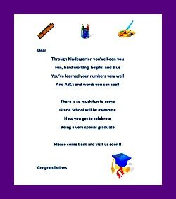Kindergarten Graduation Ideas Teachers Letter  Prek