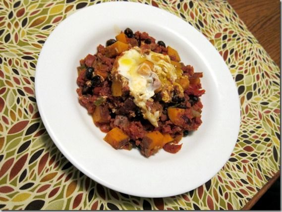 mexican swt pot and egg bake- add black beans