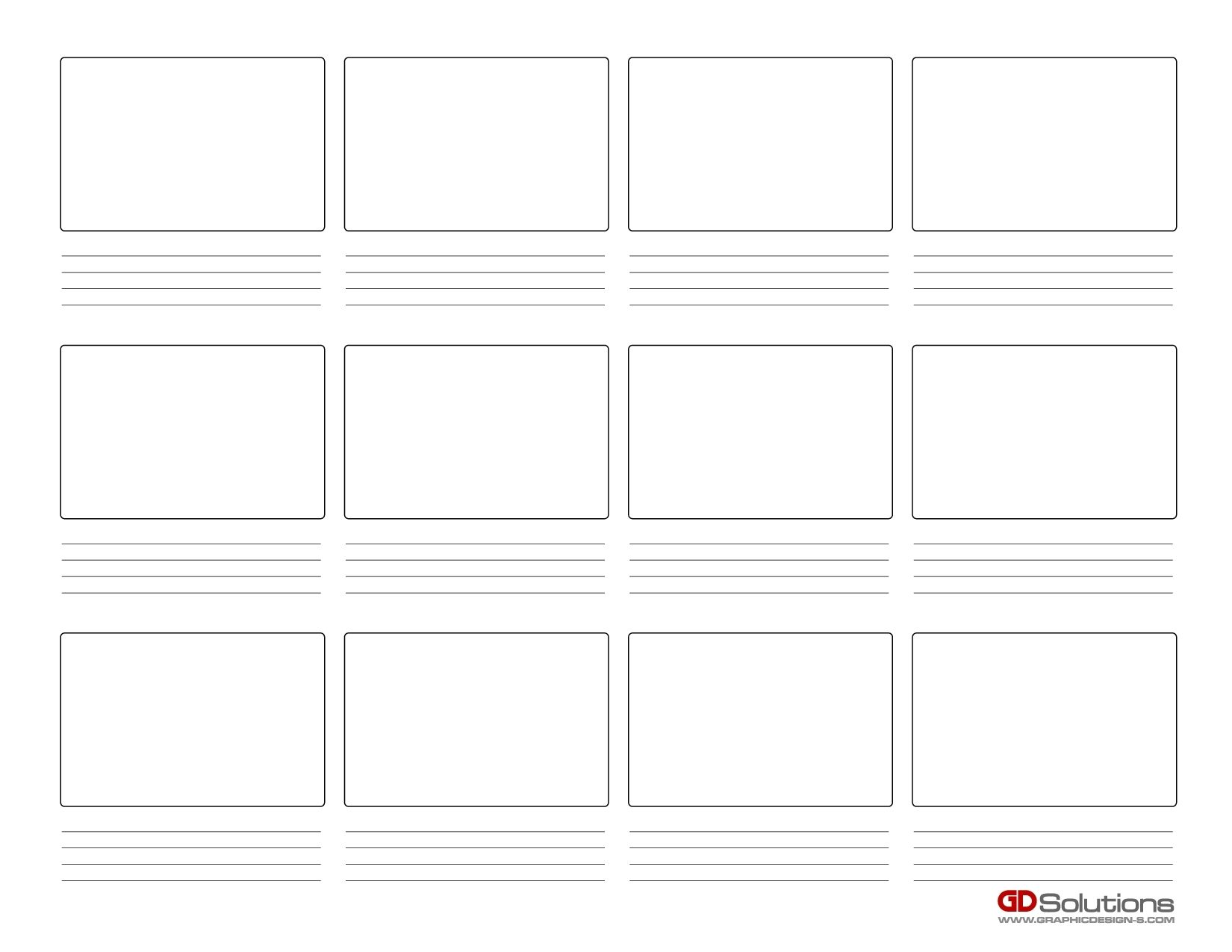Storyboarding With Images Storyboard Template