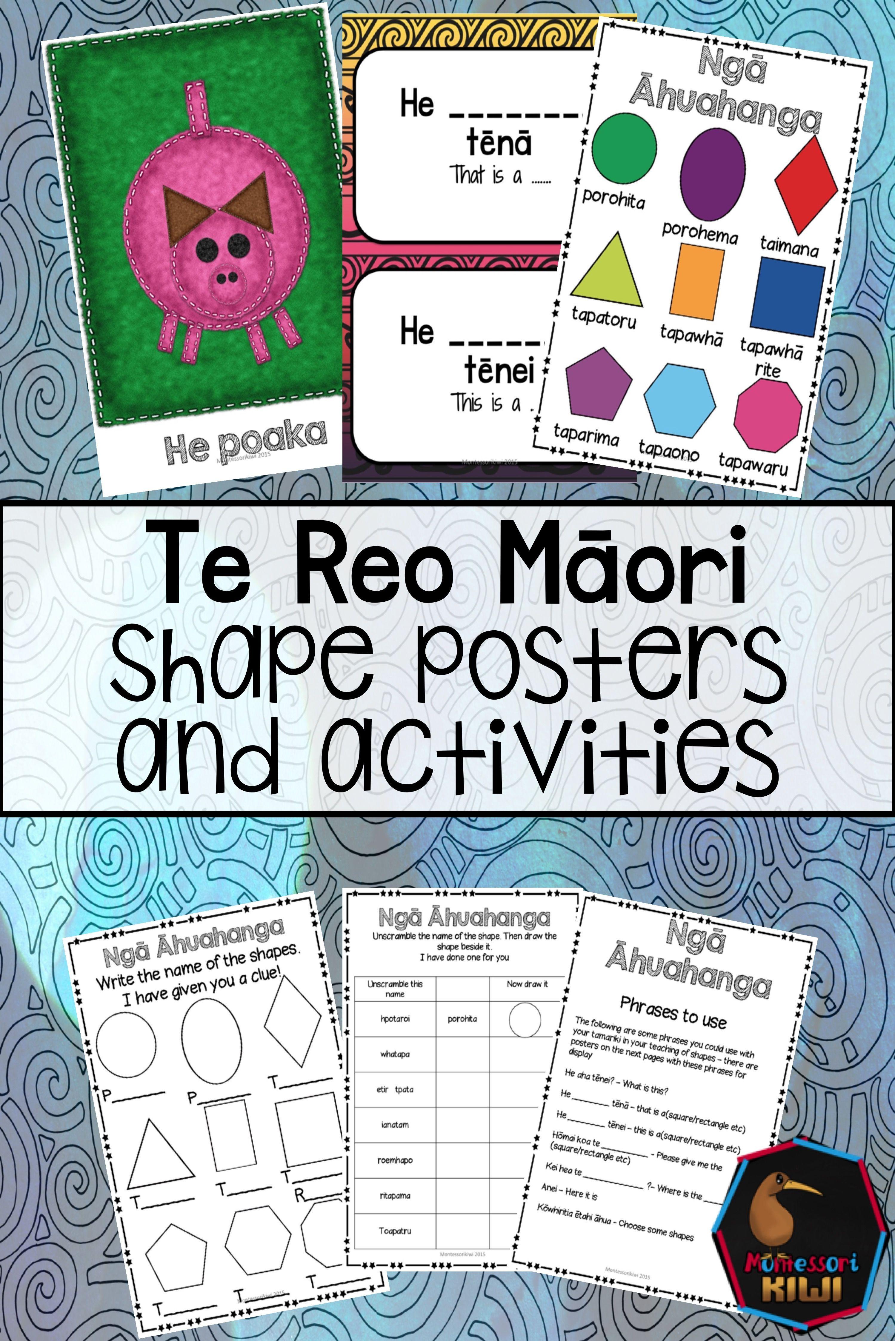 Maori Shapes Activities