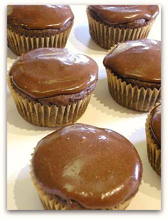 Gluten Free Vegan Carob Cupcakes