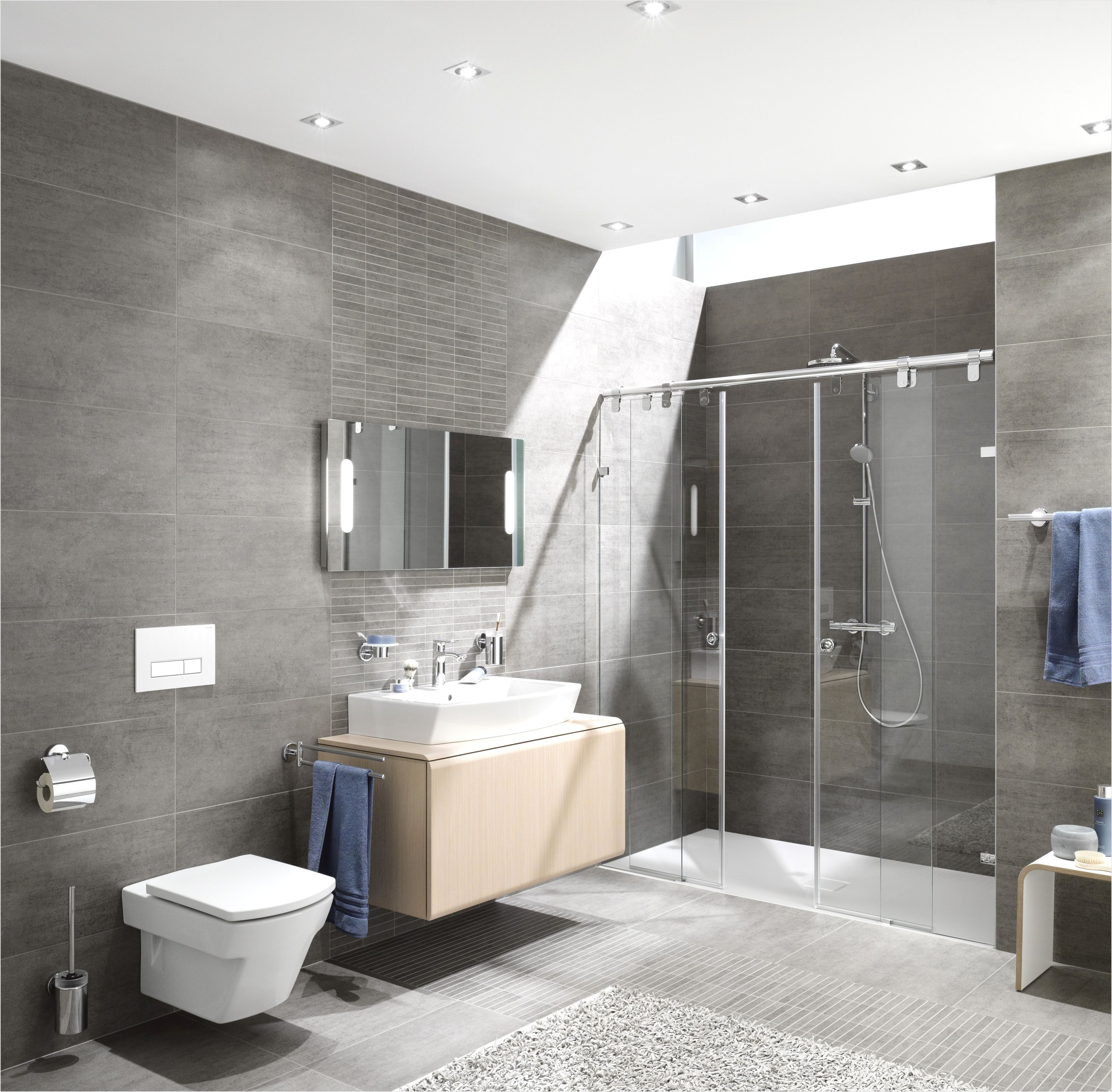 Badezimmer Platten Design Stylish Bathroom Modern Master Bathroom Grey Bathroom Tiles
