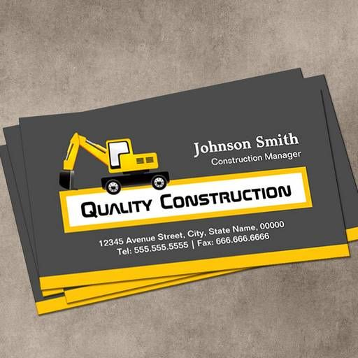 Construction Business Card Templates Construction Business Cards - Construction business cards templates free
