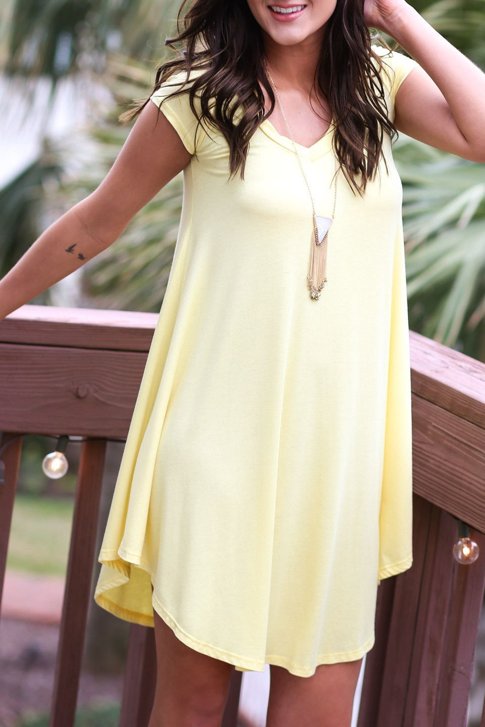 The Last Song Pastel Yellow Casual T Shirt Dress Fashion Dresses
