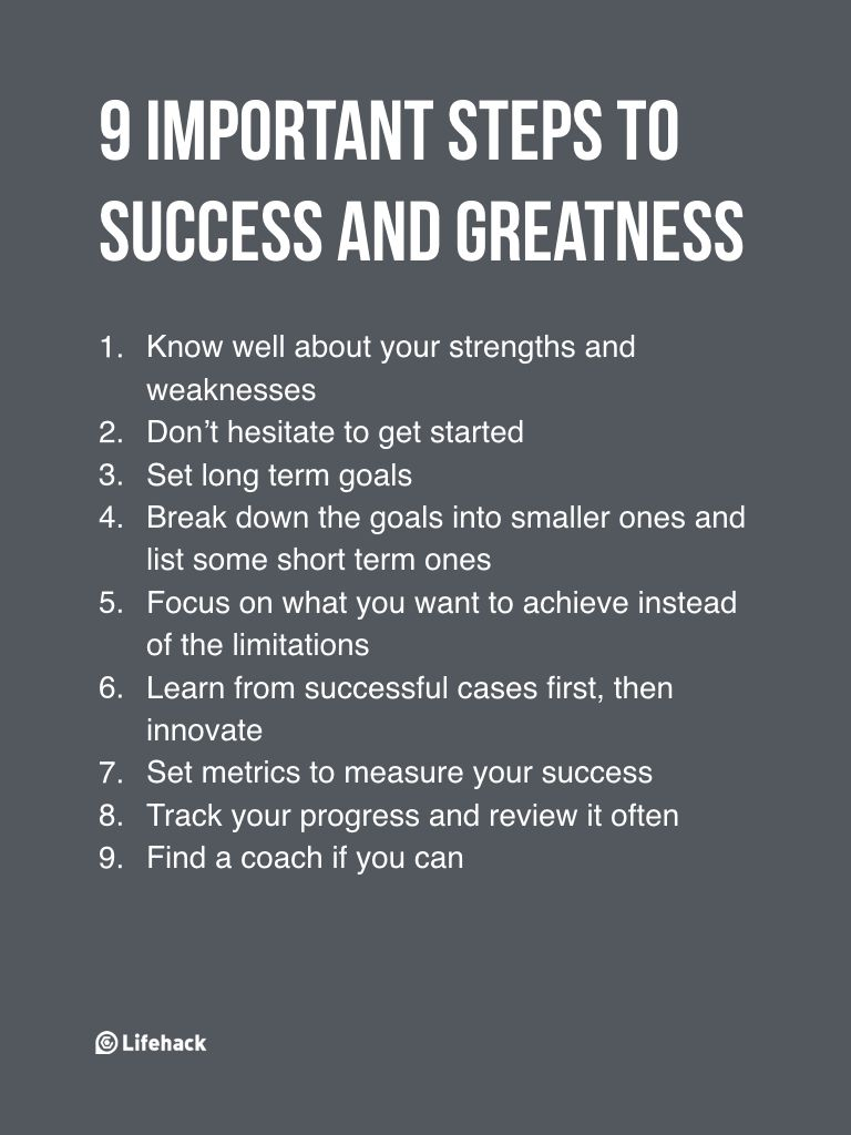 StepByStep Guide To Achieve Success And Greatness