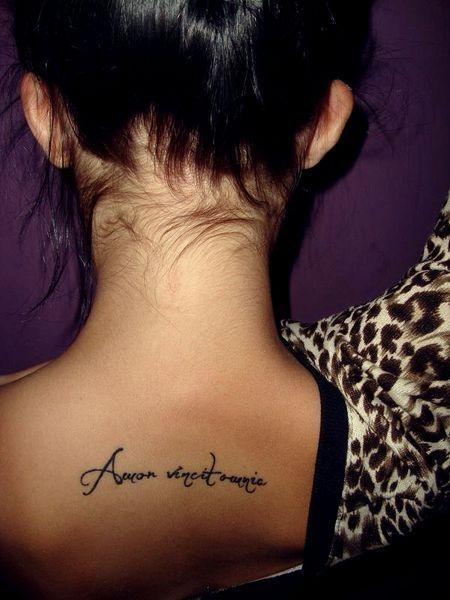 Amor Vincit Omnia Tatuaż Nasze Tatuaże My Style Sister