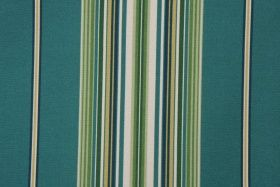 Printed Polyester Outdoor Fabric in Teal Stripe $8.95 per yard