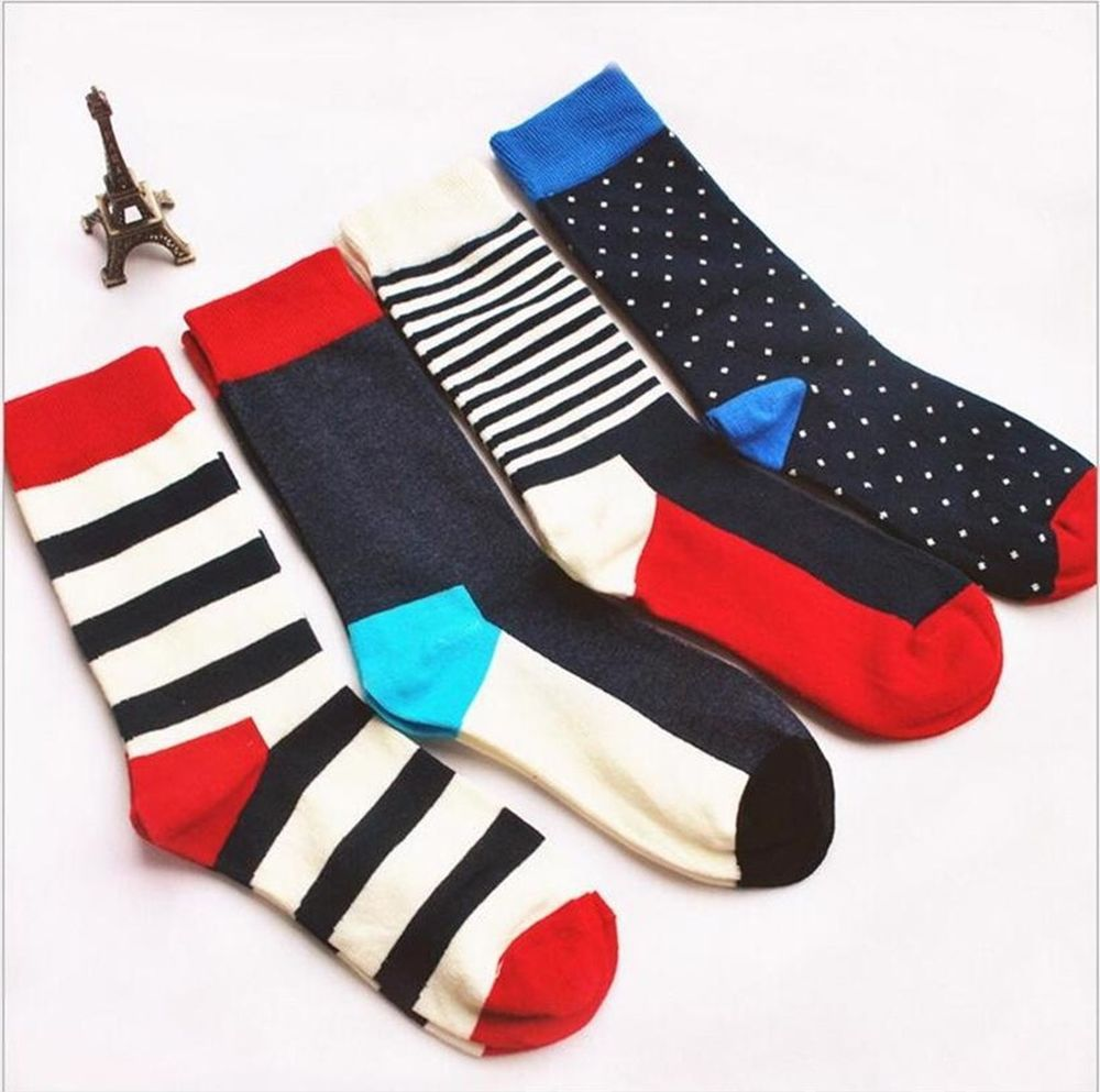 c67a177983 1 Pair Casual Men Cotton Striped Socks Long Fashion  StephyLoi  Casual