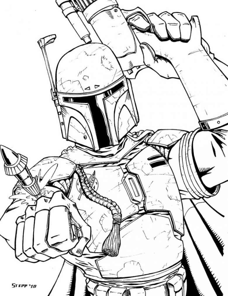 Boba Fett (9) Abc coloring pages, Coloring pages, Free