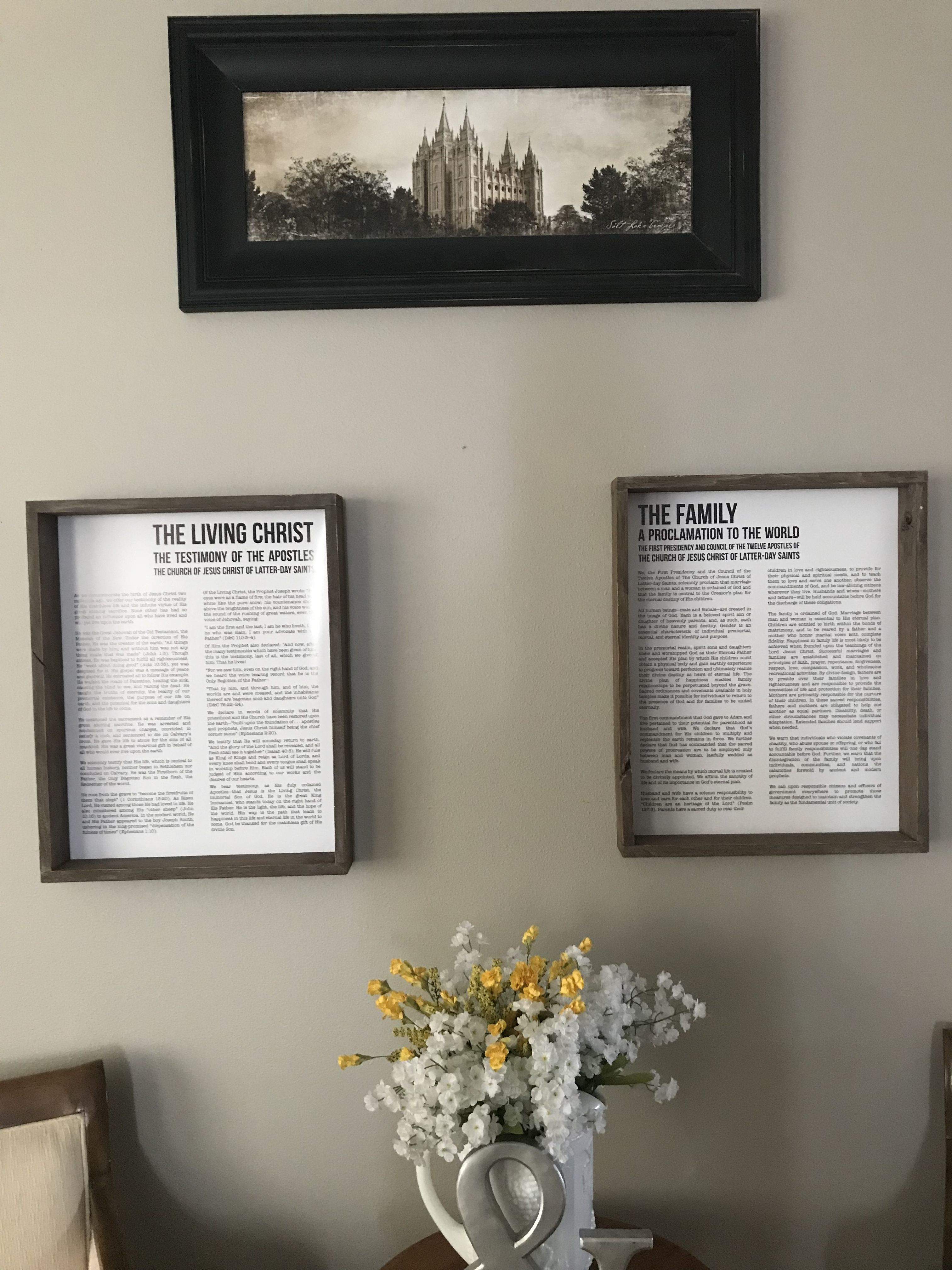 Home interior jesus living christ and family proclamation  home ideas  pinterest