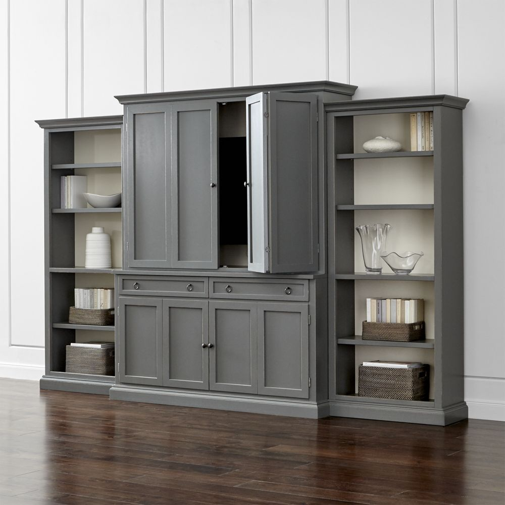 Furniture Cameo Grey Modular Storage And Media Sets