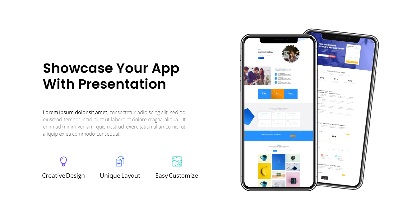 Mobile App Powerpoint Template 2019 #App, #Mobile