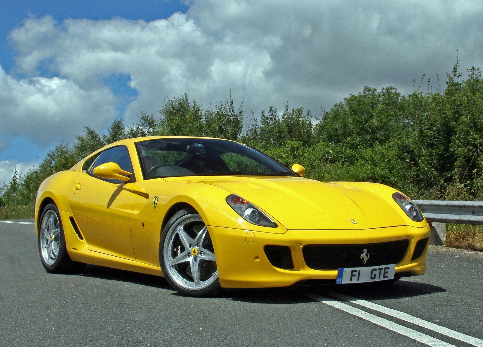 Yellow Ferrari 599 GTB