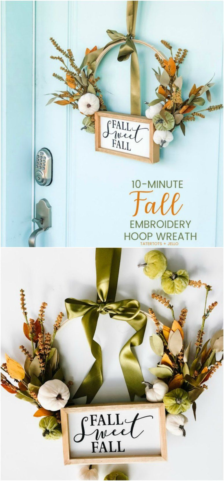 Photo of Make an Autumn Embroidery Hoop Wreath! – Tatertots and Jello