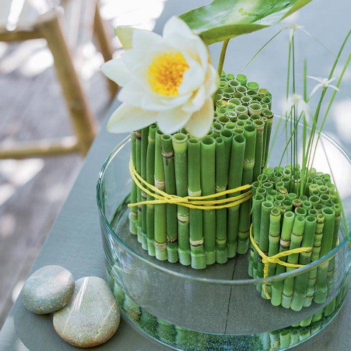 r aliser une composition florale ultra zen tablescapes modern floral design floral style. Black Bedroom Furniture Sets. Home Design Ideas