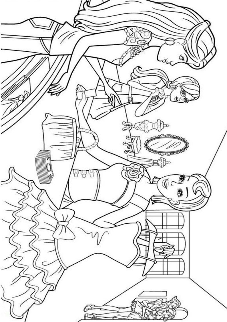 Pin de Renata en Barbie coloring | Pinterest | Colorear barbie ...