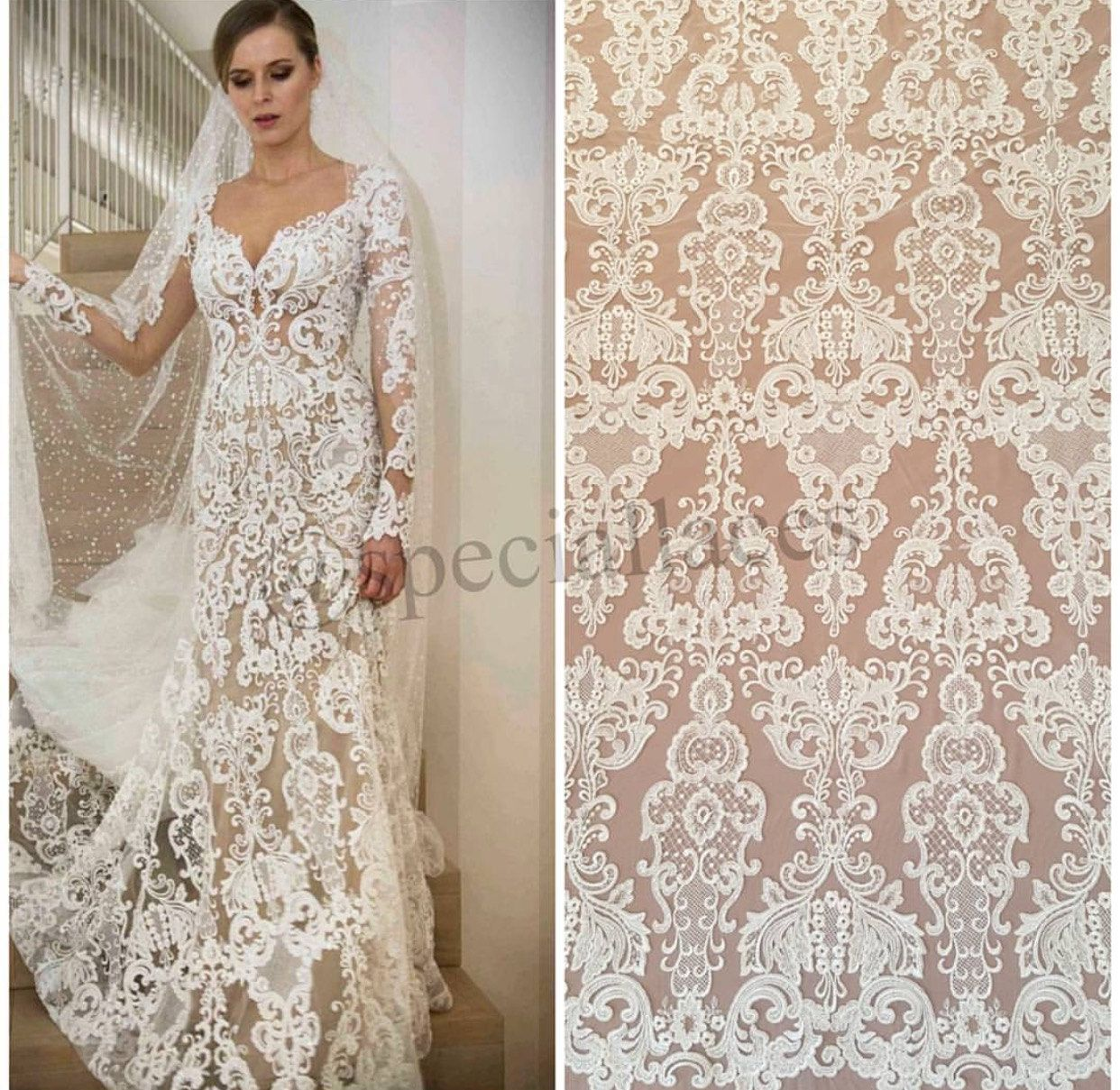 Non Traditional Fall Wedding Dresses: Newest Fashion Ivory Wedding Dress Lace Fabric,3d Lace