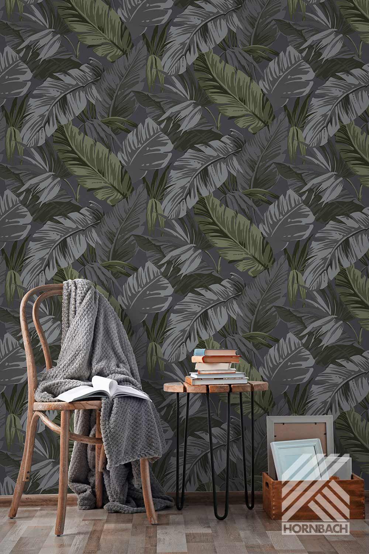Vliestapete Bananenblatter In 2020 Palmen Badezimmer Tapeten Wanddekor Schlafzimmer