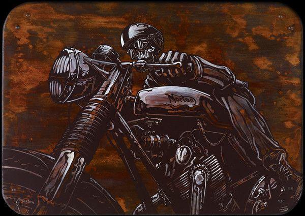 poster  for your frame motor bike racing vintage cafe racer A1 Size Print