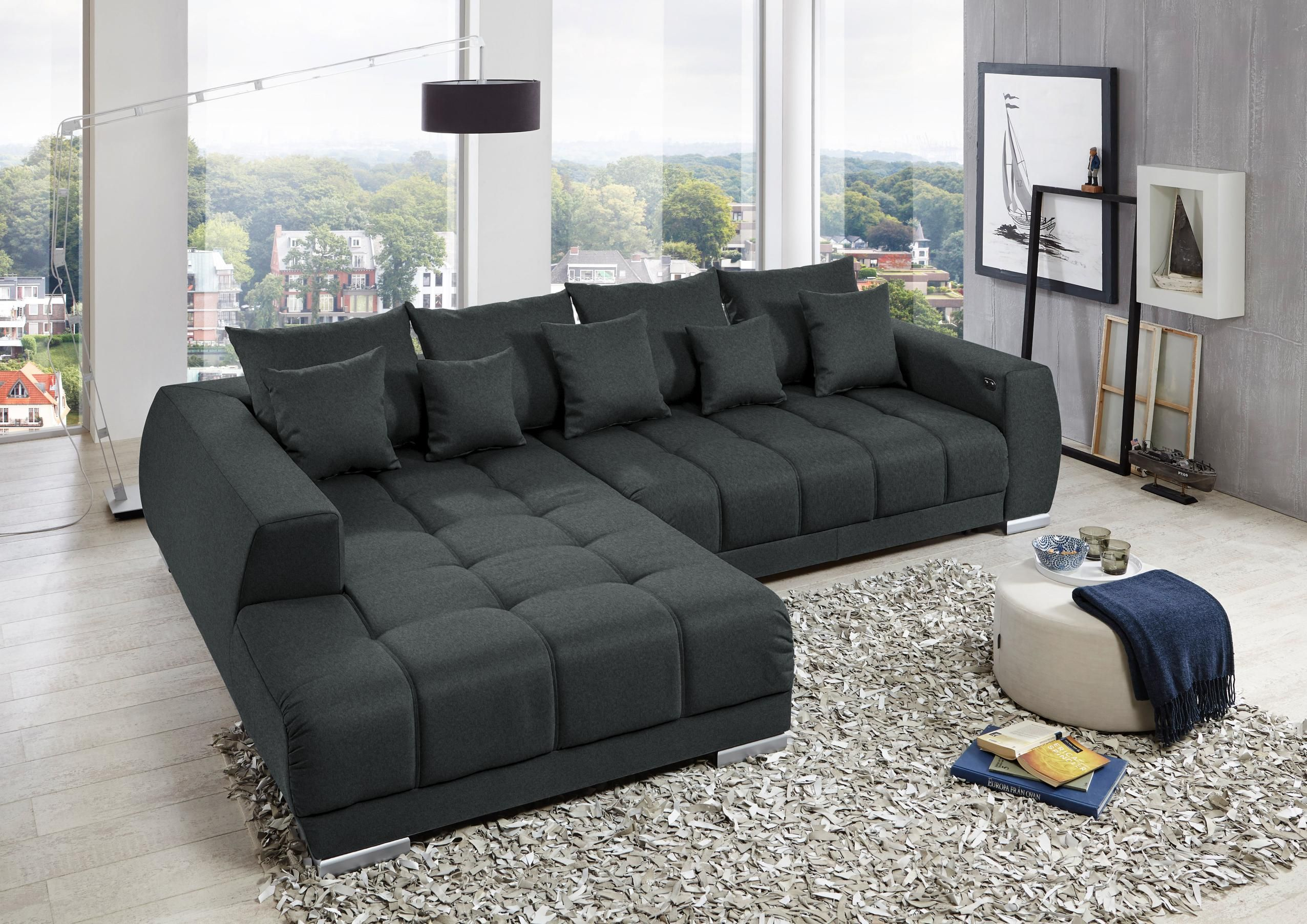 Wohnlandschaft In Grau Von Carryhome Grey Sectional Sofa Grey Sofa Living Room Gray Sofa Living