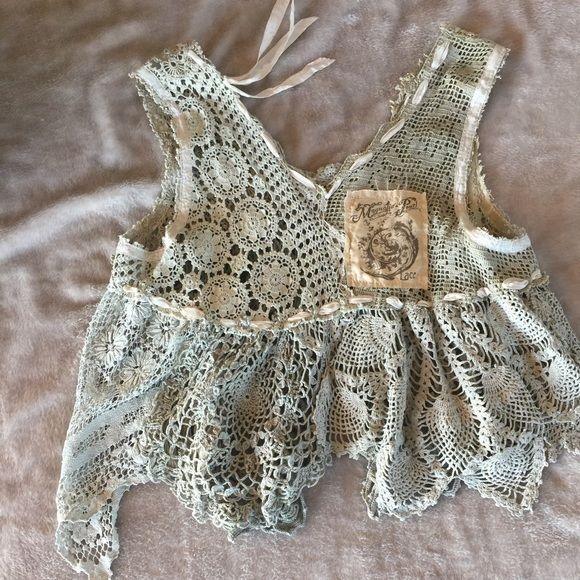 Authentic Magnolia Pearl Lace Crochet Top NWOT #MagnoliaPearl #TankCami