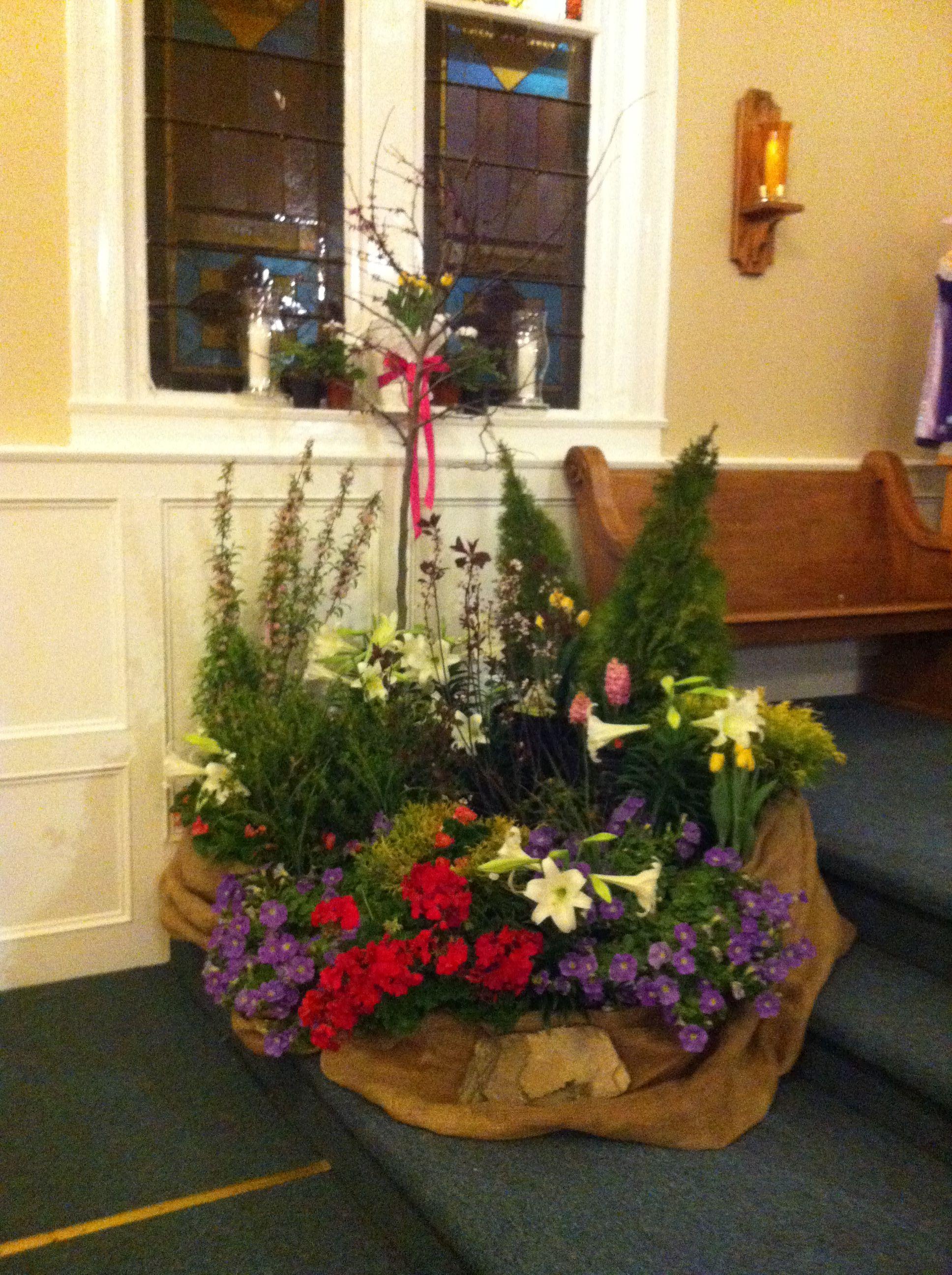"""St John Catholic Church Easter 2014. The """"garden"""" we ..."""