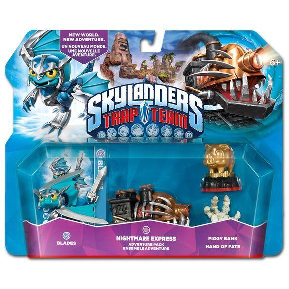 Skylanders Trap Team Adventure Pack Blades Nightmare Express Hand Of Fate Piggy Bank Skylanders