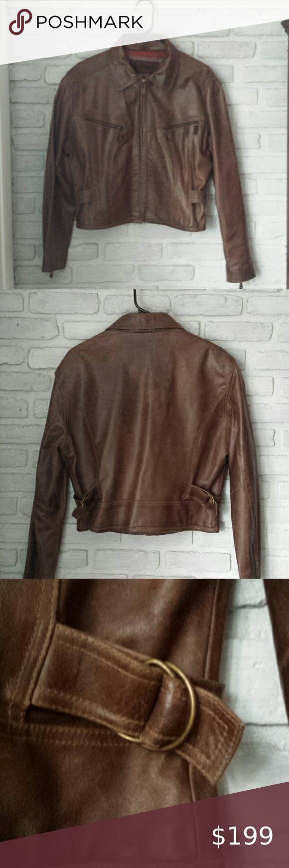 Vintage Guess Brown Leather Bomber Biker Jacket Leather Bomber Jacket Womens Biker Jacket Leather Bomber [ 1740 x 580 Pixel ]
