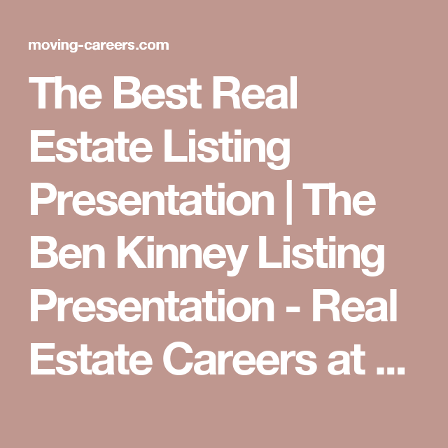 the best real estate listing presentation | the ben kinney listing, Presentation templates