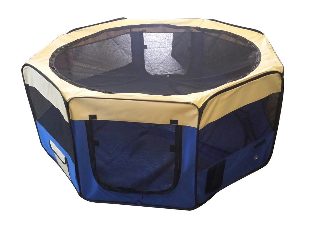 Cool Runners 60 by 60 by 30-Inch Indoor/Outdoor Portable Soft Side Pet Play Pen/Kennel for Dogs or Cats, Large * Startling review available here  : Crates, Houses and Pens for dogs